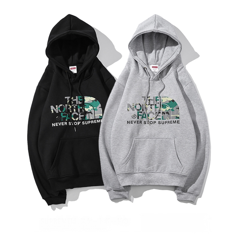 Supreme X The North Face Hooded Sweatshirt Pullover 2 Color