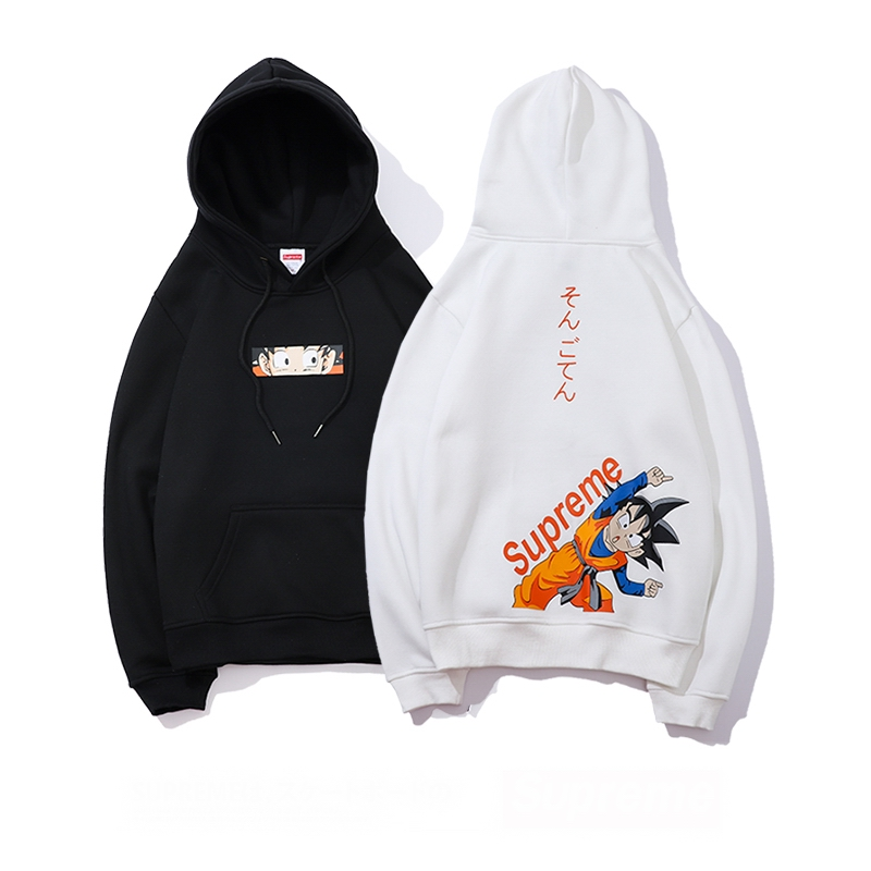 Supreme Cartoon Character Print Hooded Sweatshirt 2 Color