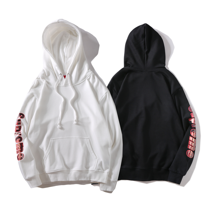 Supreme Side Logo Hooded Sweatshirt 2 Color
