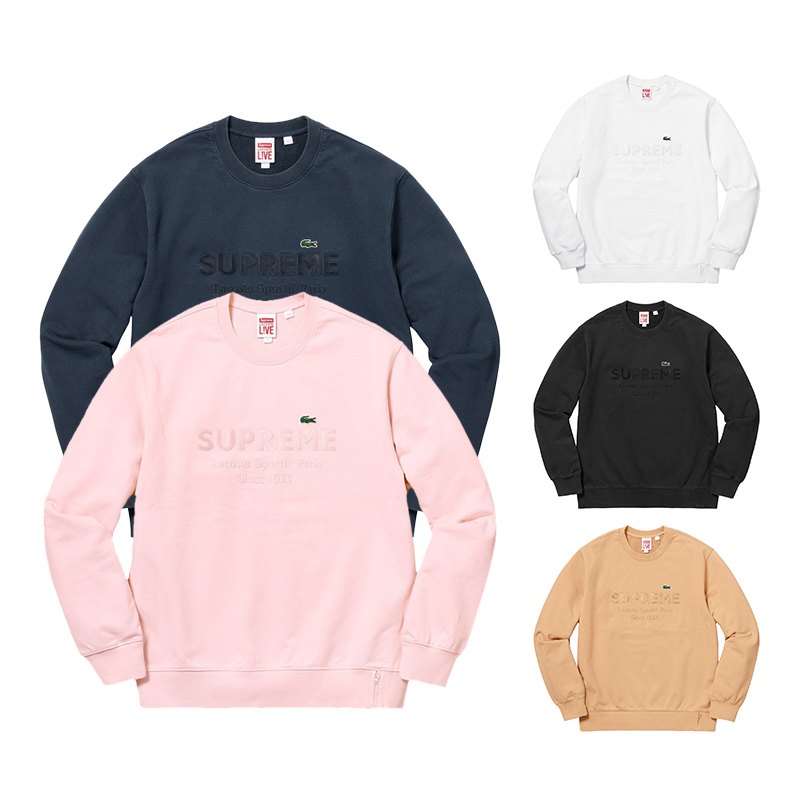 Supreme X Lacoste Crewneck 5 Color