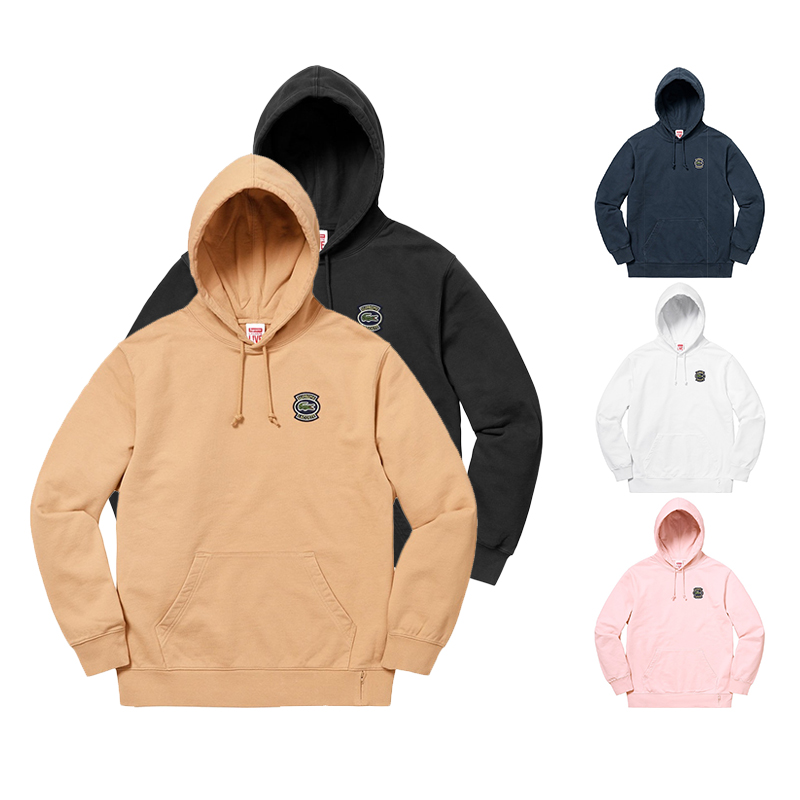 Supreme X Lacoste Hooded Sweatshirt 5 Color