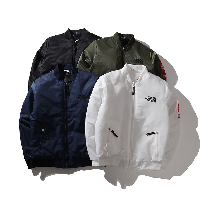 17SS Supreme X The North Face Embroidered MA-1 Jacket ジャケット 4色