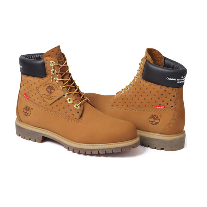 Superme シュプリームComme des Garcons Shirt コムデギャルソン シャツ Timberland 6-Inch ブーツerproof Boot