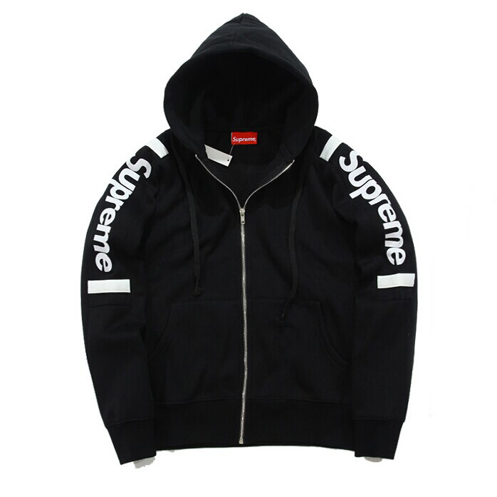 SUPREME(シュプリーム) Thermal Zip Up Sweat Sweatshirt (パーカー) Black