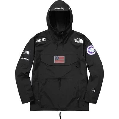 17SS Supreme x The North Face Gore-Tex Pullover ジャケット ブラック