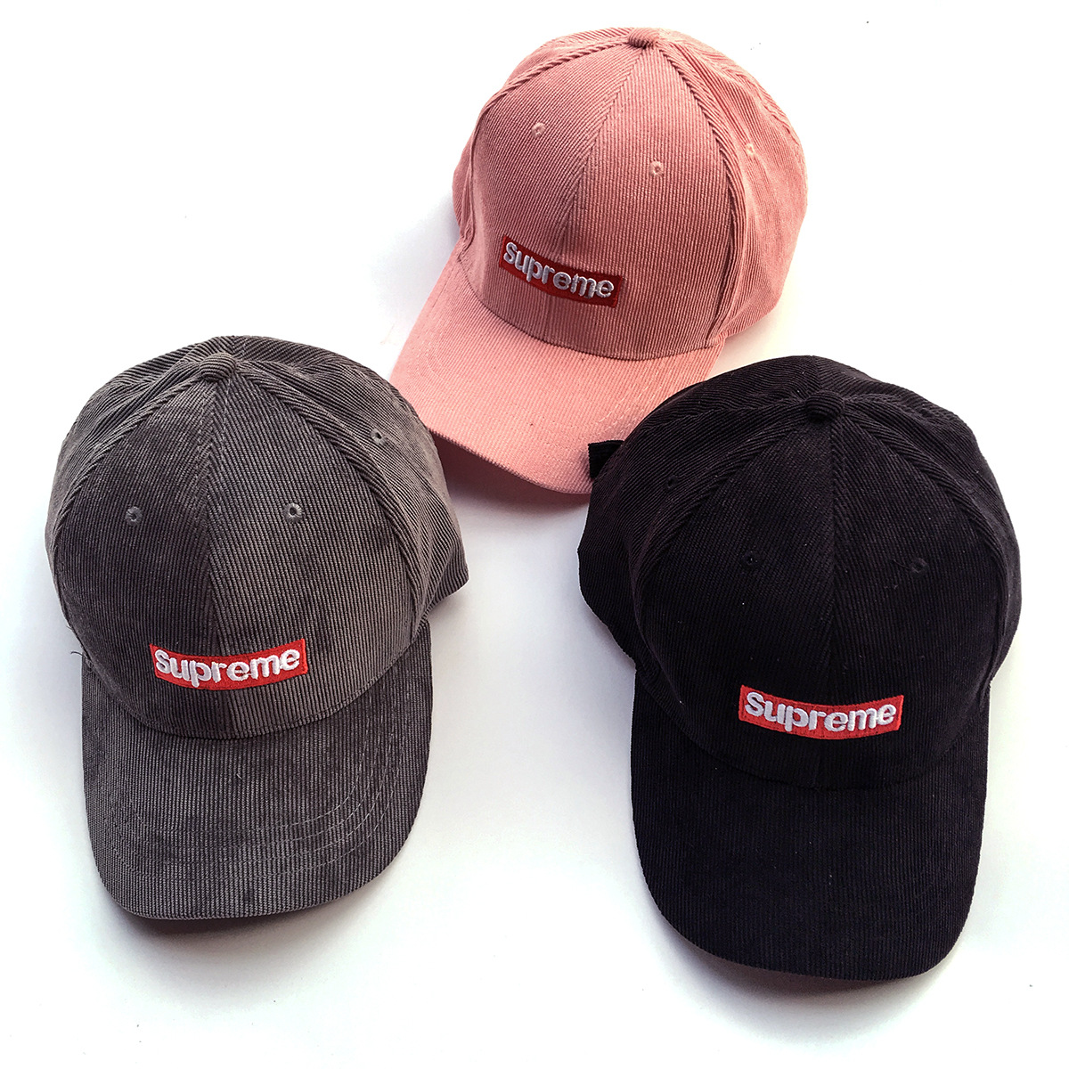 2017SS Supreme シュプリーム Suede Camp Cap 3色