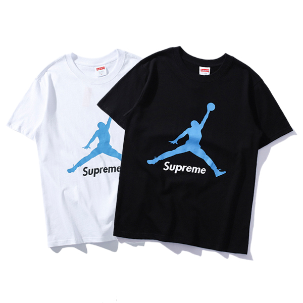 Supreme X Air Jordan Flight  Logo Tシャツ 2色