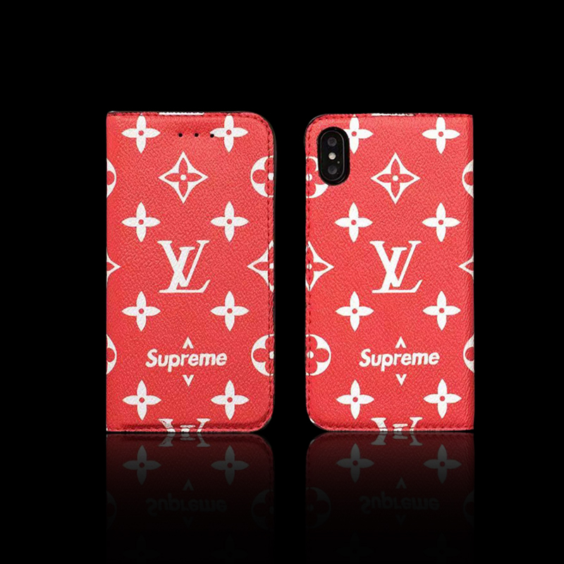 Supreme X Louis Vuitton 手帳型 iPhone6/6s、6/6sPlus、7、7 Plus、8、8 Plus、X 、XS、XS Max、XR ケース01