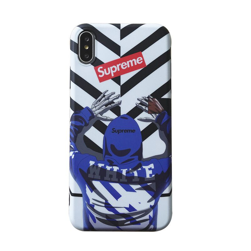 Supreme X Off-White iPhone XR 、X、XS、XS Max、8、8 Plus、7、7 Plus、iPhone6/6s、6/6sPlusケース