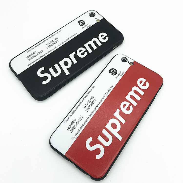 Supreme Iphone6/6s、6/6sPlus、7、7 Plus、8、8 Plus Metro Card ケース 2色