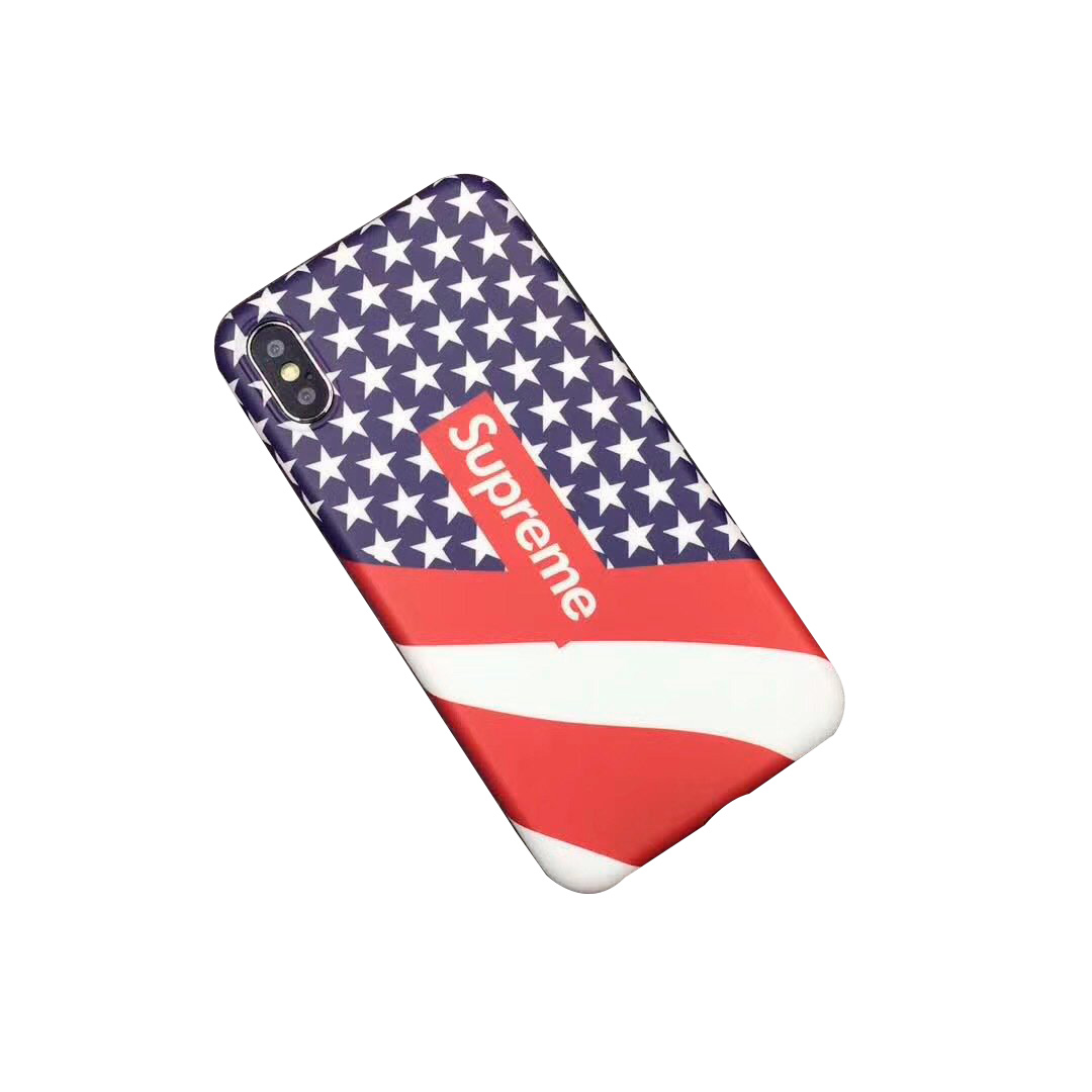Supreme Iphone6/6s、6/6sPlus、7、7 Plus、8、8 Plus、IPhoneX Star Flag ケース