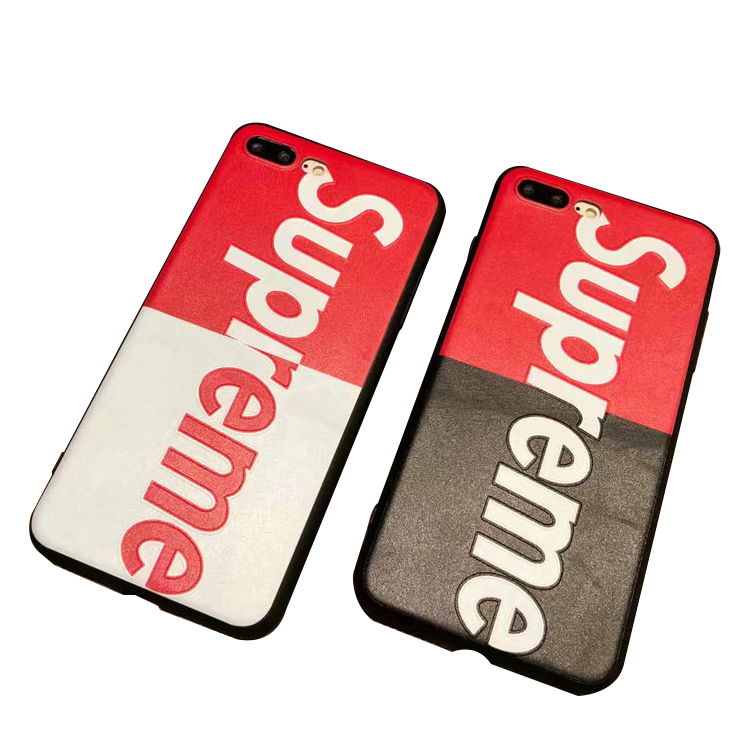 Supreme Iphone6/6s、6/6sPlus、 7、7Plus, 8, 8Plus, X , XS, XS Max, XR Contrast Color ケース 2色