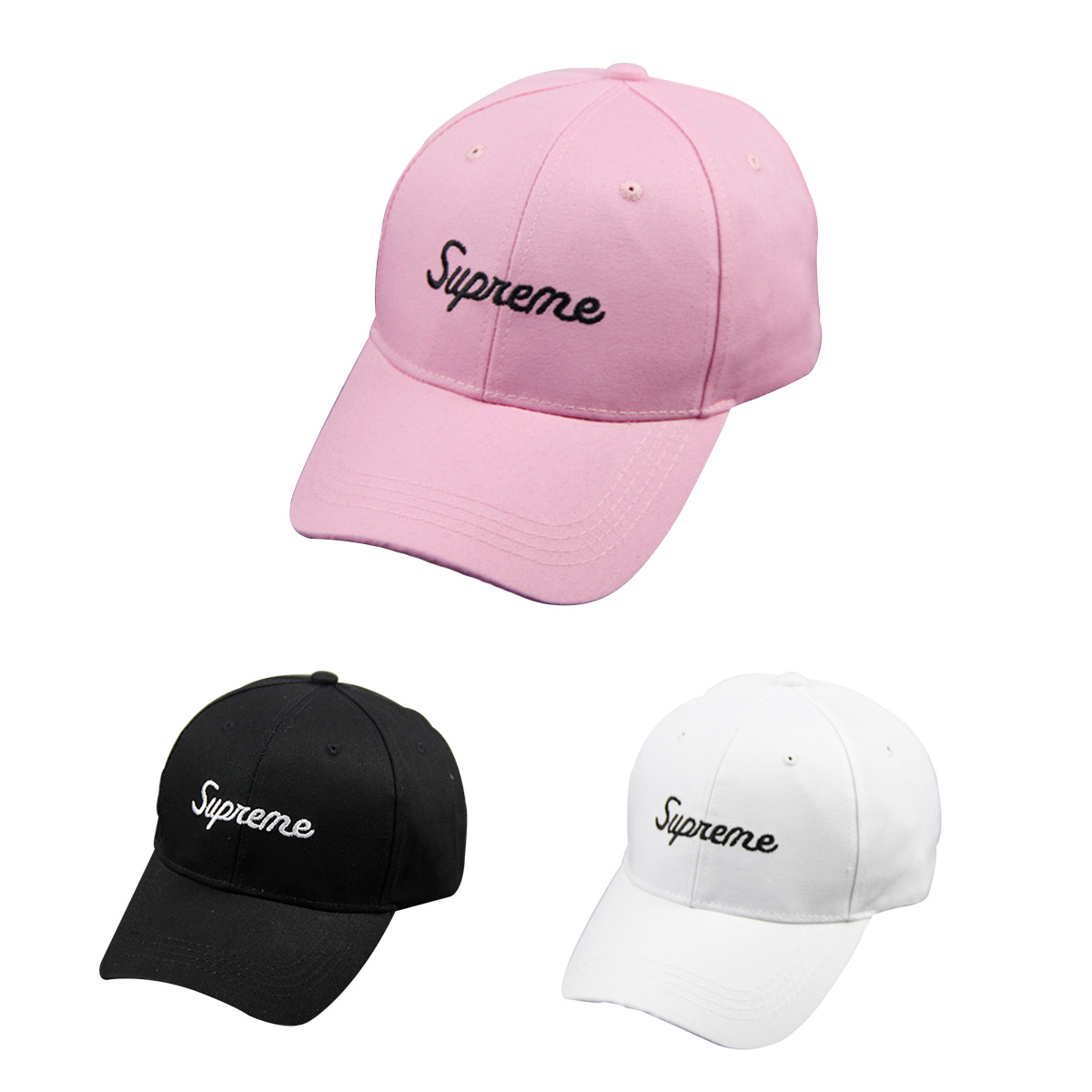 Supreme Small Font Logo キャップ 3色