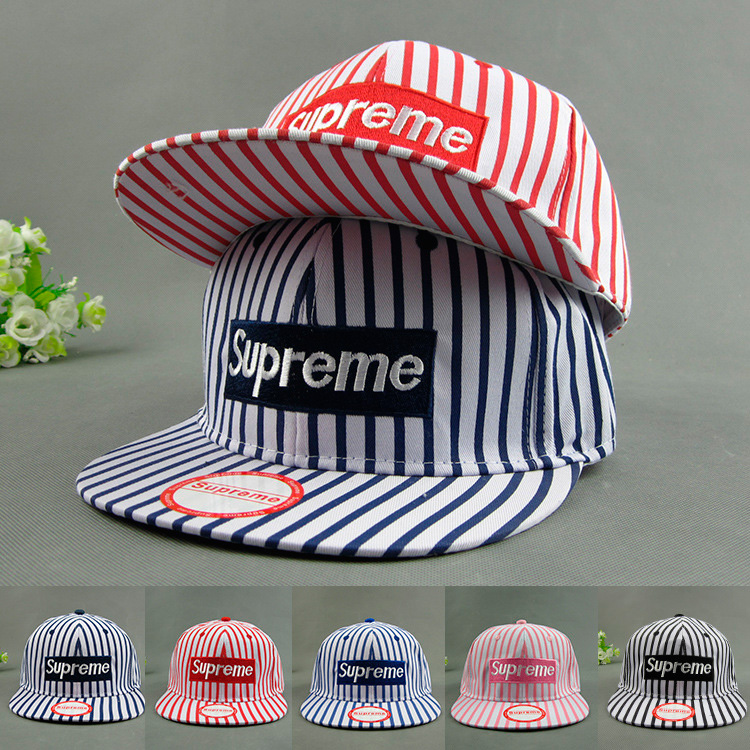 Supreme Stripe Baseball Hat キャップ 5色