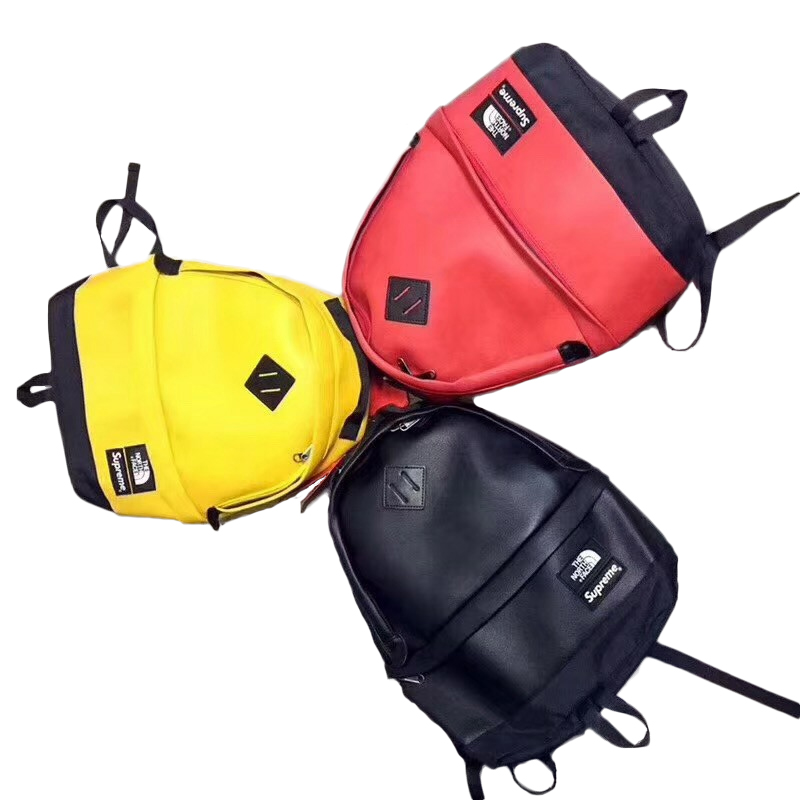 17FW Supreme X The North Face Leather Day Pack バックパック 3色