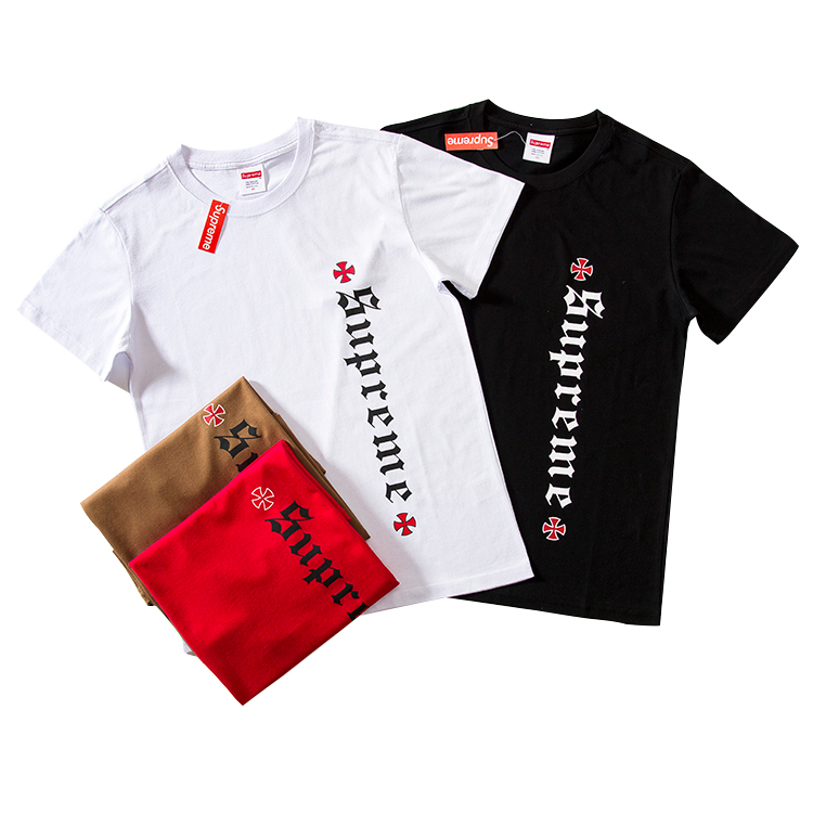 Supreme X Independent Logo Printed Round Neck Tシャツ 4色