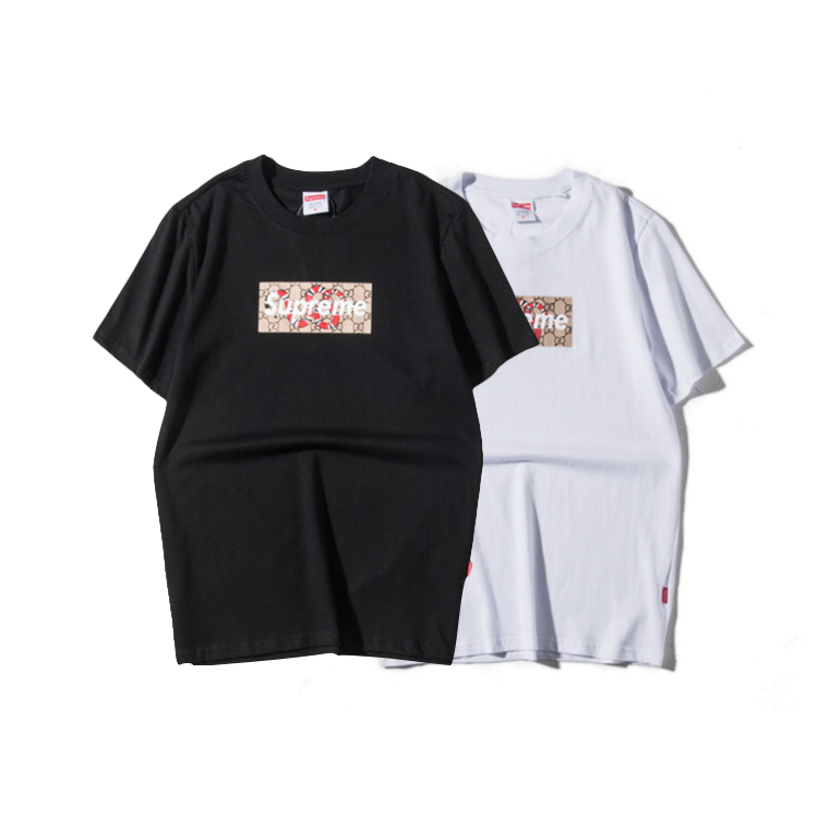 Supreme X Gucci Box Logo Tシャツ 2色