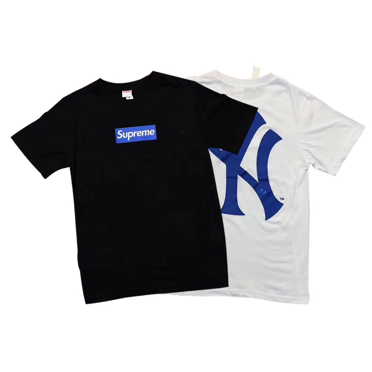 Supreme X Yankees Box Logo Tシャツ 2色