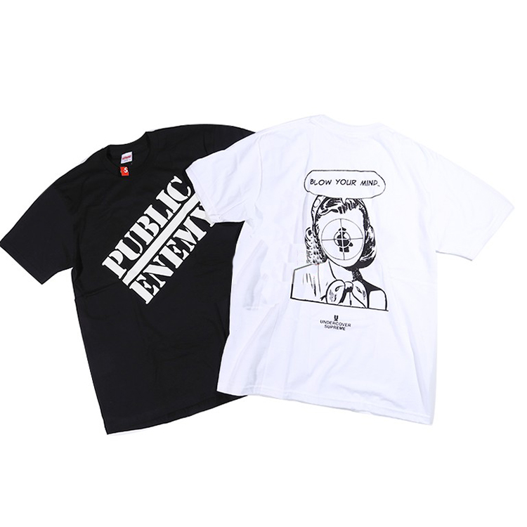 18SS Supreme X Undercover Public Enemy Tシャツ 2色