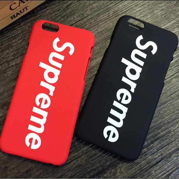 Supreme Iphone6/6s、6/6sPlus、7、7 Plus、8、8 Plus ケース 赤 黒