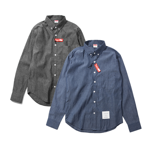 Supreme Denim Zip Shirt シャツ 2色