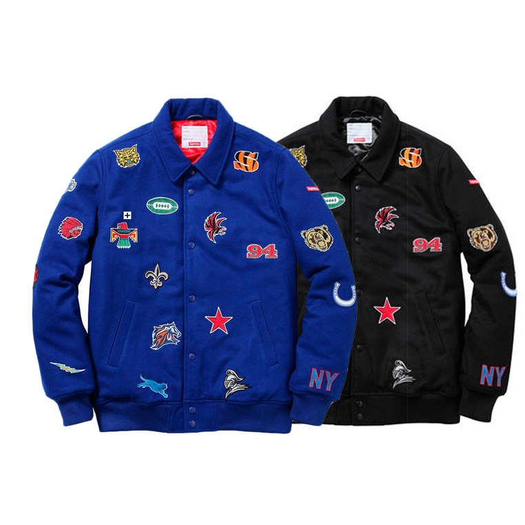 Supreme Embroidered Baseball Uniform ジャケット 2色