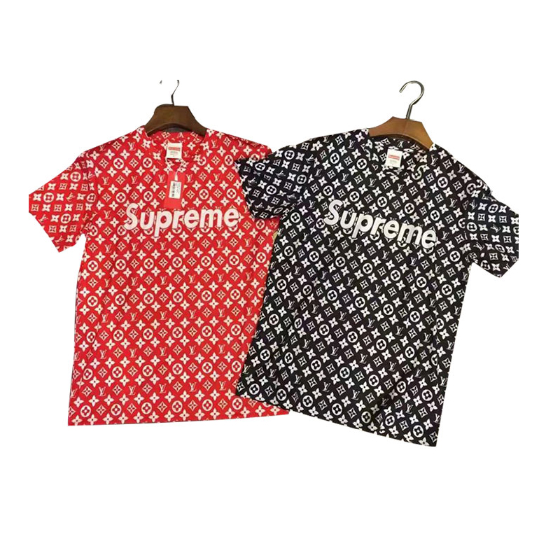2017 ss Supreme X Louis Vuitton 半袖Tシャツ 2色