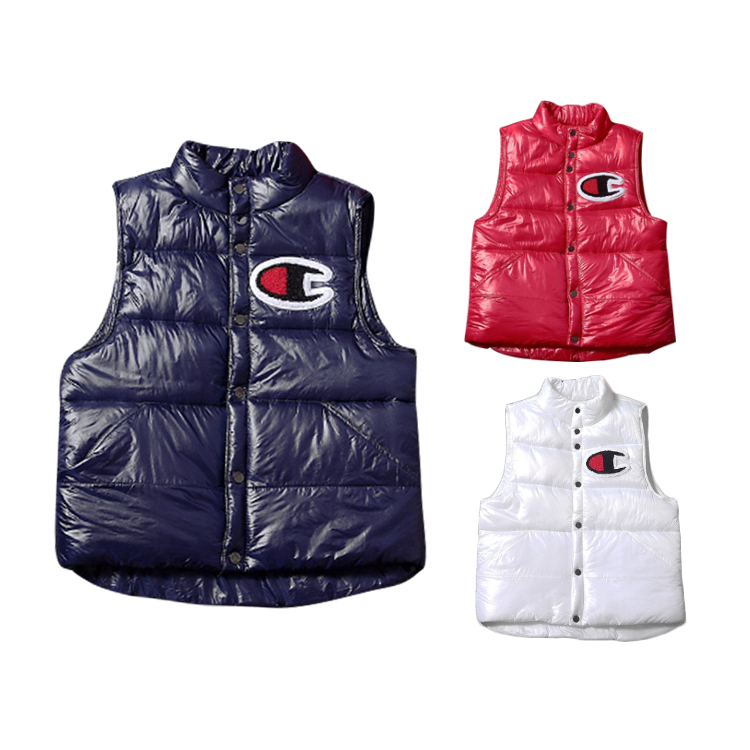 17SS Supreme X Champion Puffy Vest 3色