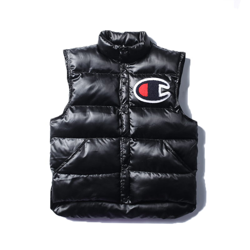 17SS Supreme X Champion Puffy Vest ブラック