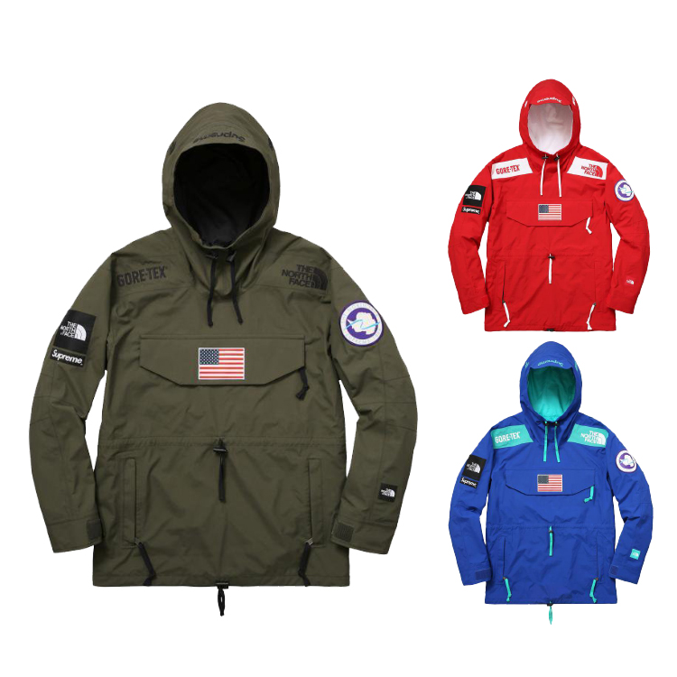 17SS Supreme X The North Face Gore-Tex Pullover ジャケット 3色
