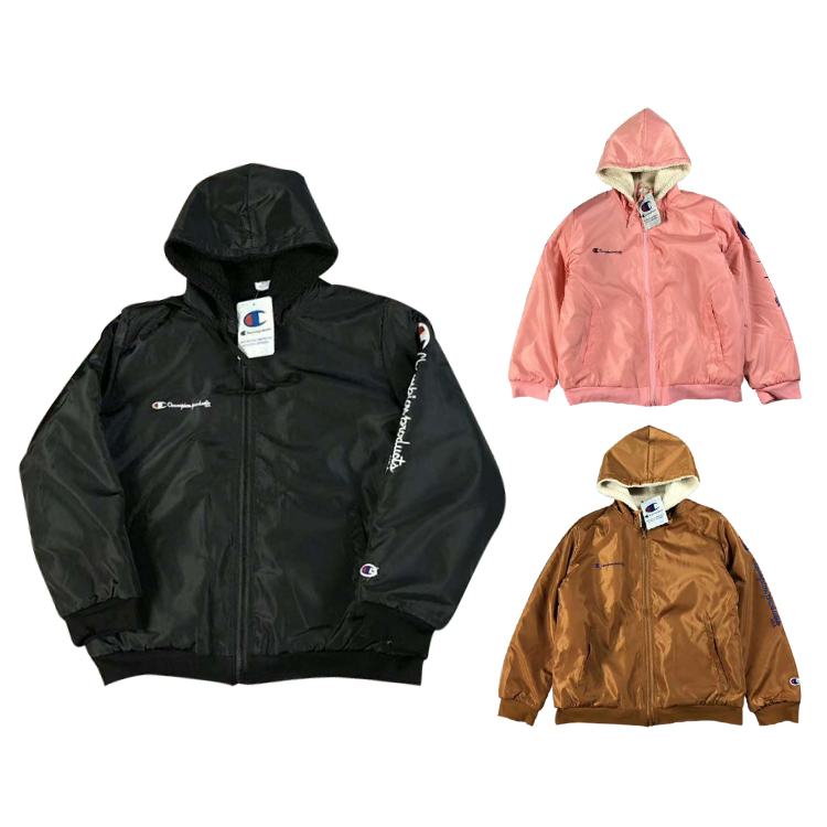 17SS Supreme X Champion Zip Up Hooded Plus Cashmere ジャケット 3色