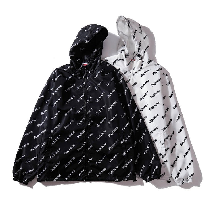 Supreme (シュプリーム) Diagonal Logo Windbreaker Hooded ジャケット 2色