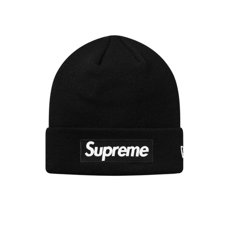18FW Supreme New Era Box Logo Beanie キャップ ブラック