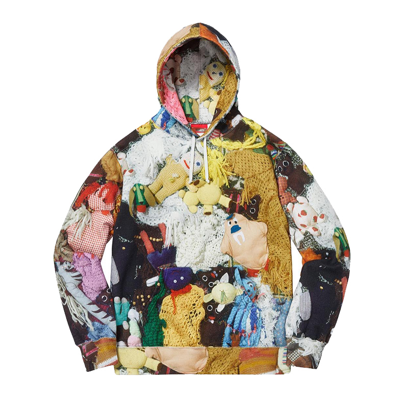 18FW Supreme X Mike Kelley Love Hours フーデッド パーカー