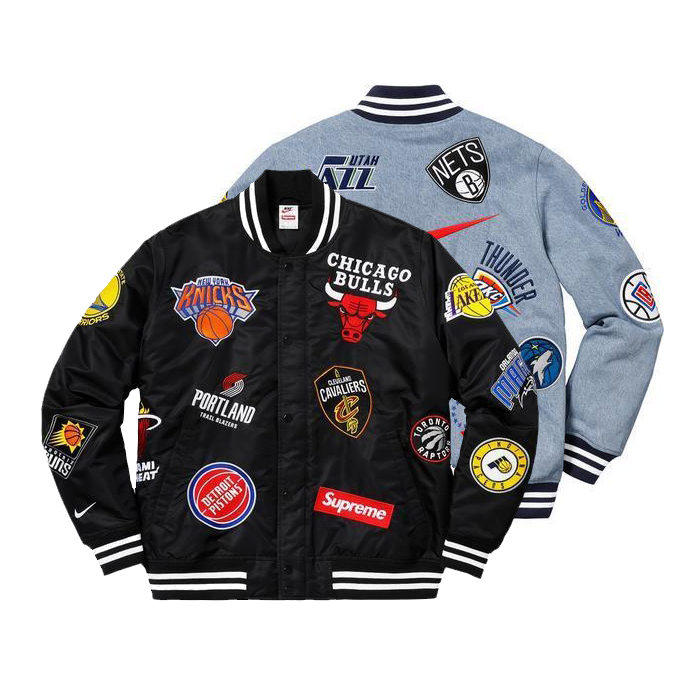 18SS Supreme X Nike X NBA Warm-Up ジャケット 2色