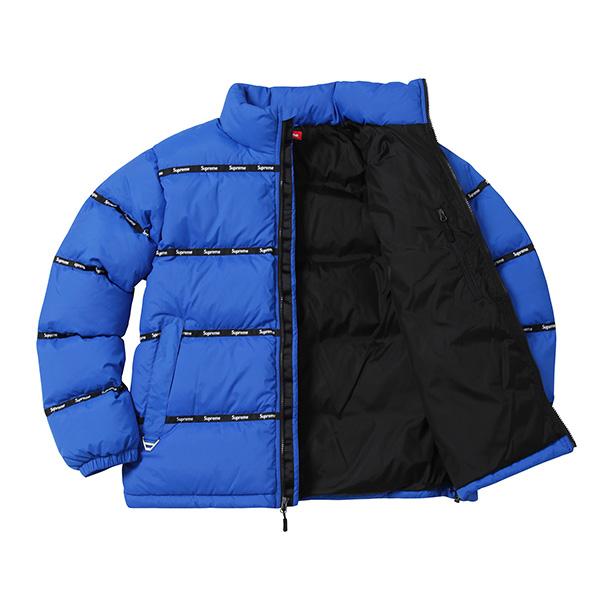 supreme logo tape puffy jacket blue supreme10604 315