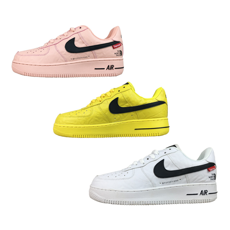 18SS Supreme X The North Face X Nike Air Force 1 AF1  スポーツシューズ 3色