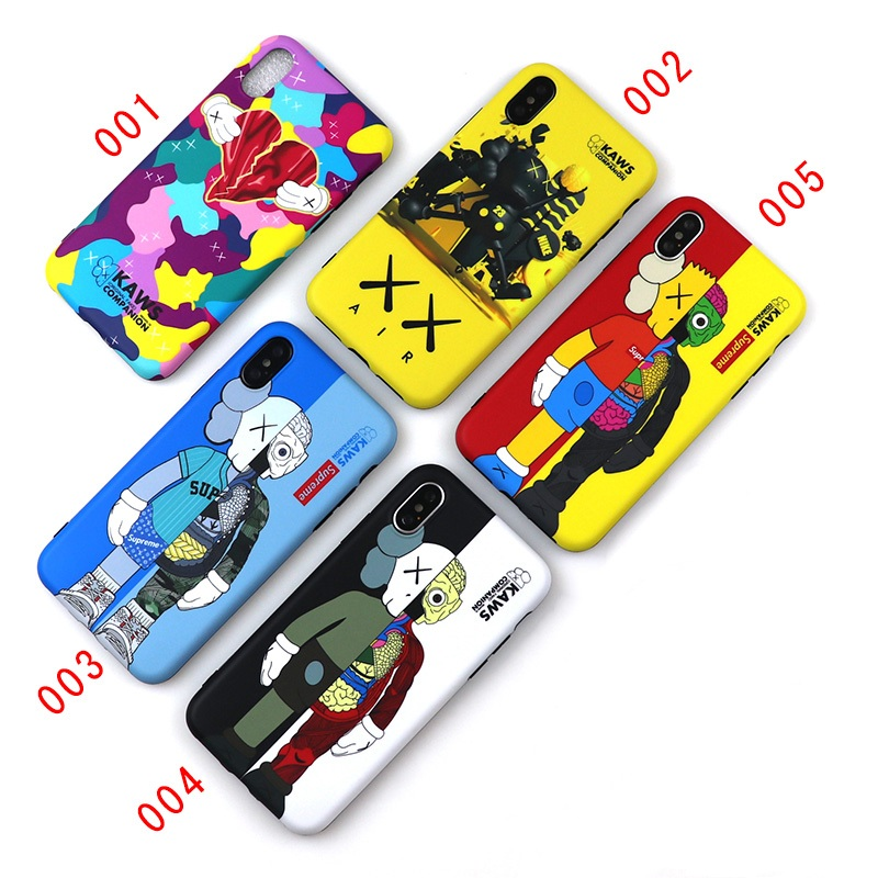 Supreme x Kaws iPhone6/6s、6/6sPlus、7、7 Plus、8、8 Plus、X 、XS、XS Max、XR ケース 5色